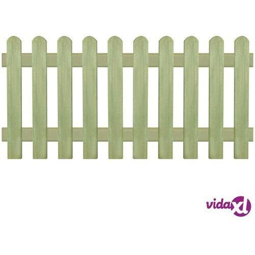 vidaXL Panel ogrodzeniowy, impregnowana sosna, 170x80 cm, 6/9 cm