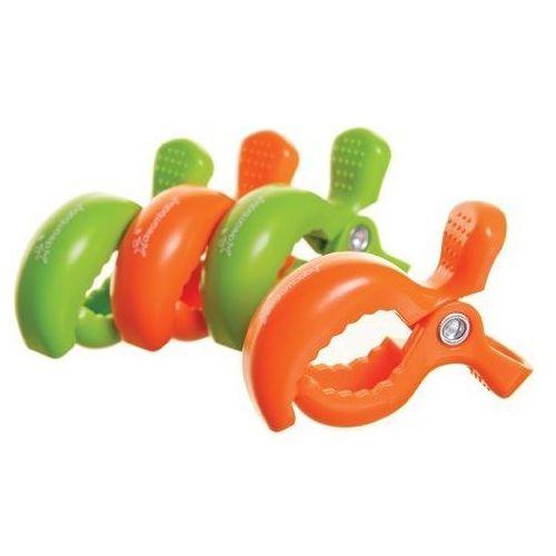 Dreambaby Klipsy  do wózka - 4szt. - 2 x zielony; 2 x pomarańczowy