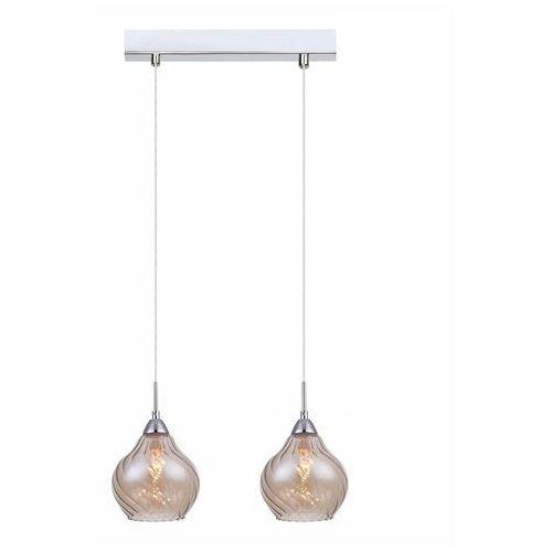 Italux Nowoczesna lampa wisząca temps mdm2171/2 b szklana oprawa sufitowa listwa chrom herbaciana (5900644404316)