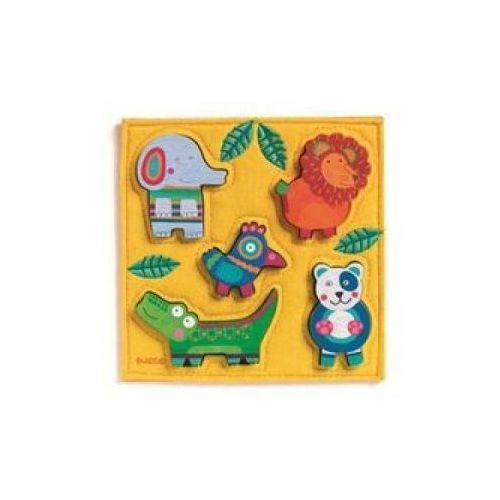 Djeco Puzzle drewniane układanka dżungla (3070900010413)