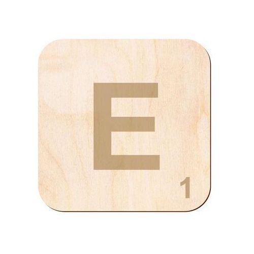 Drewniana dekoracja na ścianę scrabble - literka E (5907509932038)