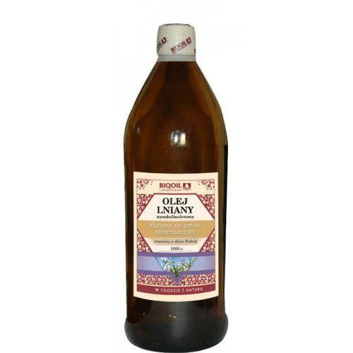 Biooil Olej lniany budwigowy wysokolinolenowy tłoczony na zimno 1000ml