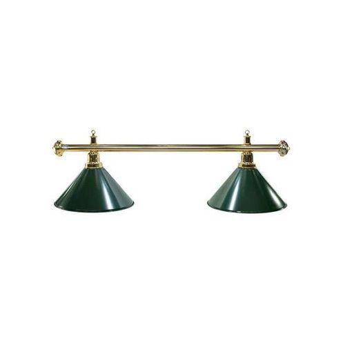 Tournament champion Lampa bilardowa elegance 2 klosze zielona, złoty pałąk - zielony ||złoty