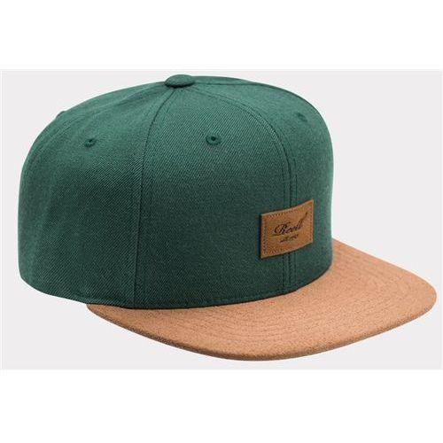czapka z daszkiem REELL - Suede 6-Panel Greyish Green (GREYISH GREEN), kolor zielony