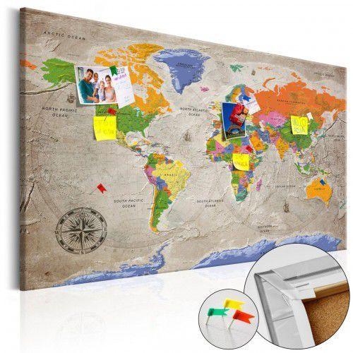 Artgeist Obraz na korku - mapa świata: styl retro [mapa korkowa]