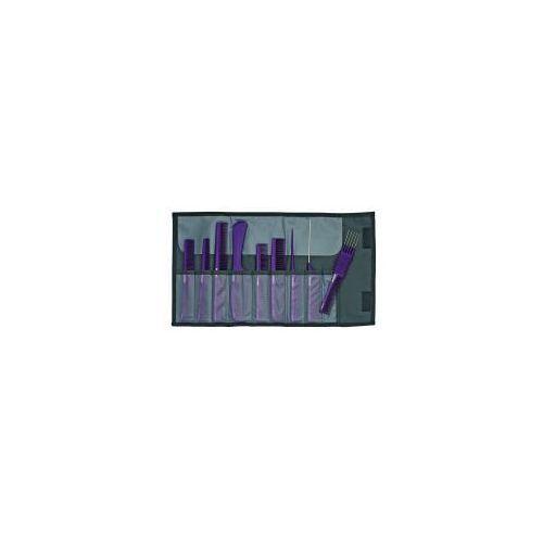 Jaguar a-line lila, zestaw grzebieni antystatycznych, 9 szt, fioletowe, ref. a599-3