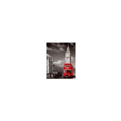 Londyn Big Ben Taxi i Czerwony Autobus - plakat (5028486116157)