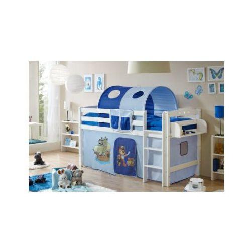 Ticaa łóżko piętrowe timmy r buk, biały - pirat jasnoniebieski/ciemnoniebieski wyprodukowany przez Ticaa kindermöbel