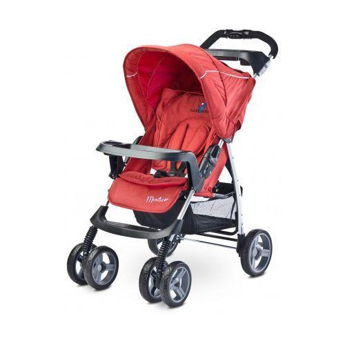 Caretero Monaco NOWOŚĆ 2016 wózek spacerówka red z kategorii Wózki spacerowe