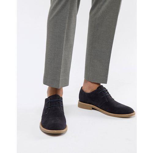 New look faux suede desert shoes in navy - navy