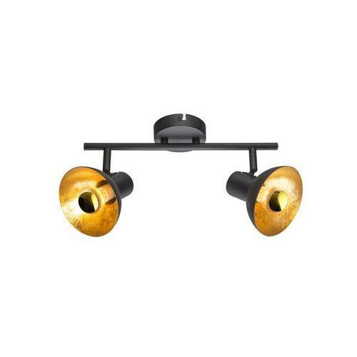 Listwa Globo Lotte 54001-2 lampa sufitowa spot 2x4W E14 czarny / złoty (9007371365388)