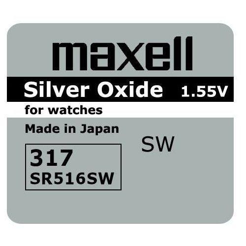 Bateria srebrowa mini 317 / sr 516 sw marki Maxell