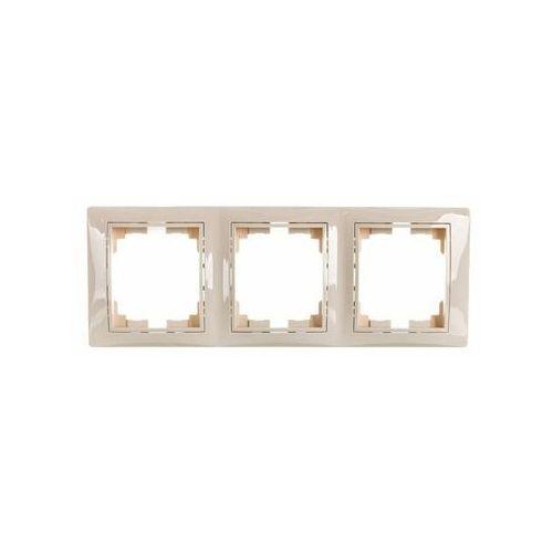 Kanlux domo 01-1530-003 kremowy ramka potrójna pionowa 24827 (5905339248275)