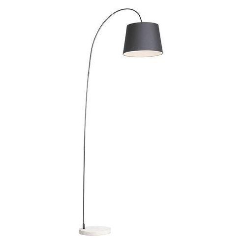 Lampa podlogowa Bend z czarnym kloszem