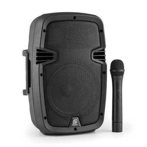 "Skytec SPJ-PA908 aktywny głośnik PA 20cm (8"") akumulator Bluetooth USB SD MP3 VHF 350W"