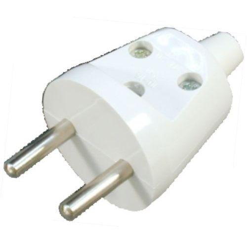 Elektrotaaj Wtyczka prosta rozbieralna 2p, 16a, 250v, biały, wt-20/biały