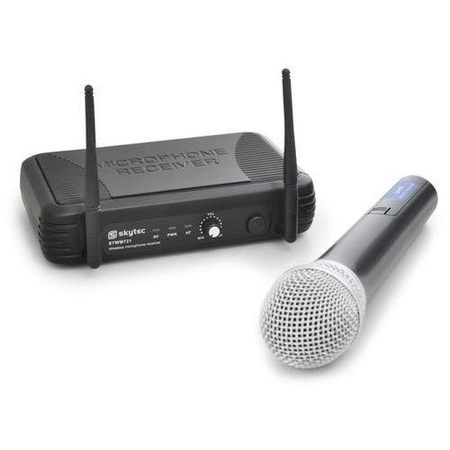 Bezprzewodowy mikrofon UHF Skytec STWM721 1 kanał 1 mikrofon