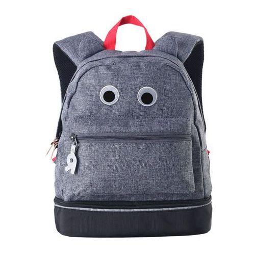 Plecak dziecięcy REIMA Eloisa grafitowy 7 litrów, elementy odblaskowe