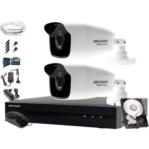 Hikvision hiwatch 2 x hwt-b223-m monitoring zakładu recyklingu odpadów hwd-6104mh-g2, 1tb, akcesoria