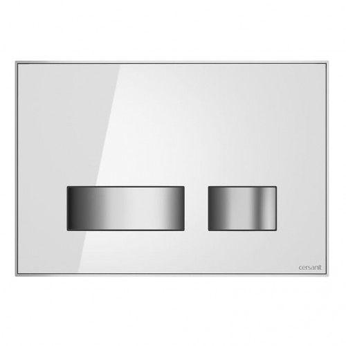 przycisk movi szkło białe s97-012 marki Cersanit