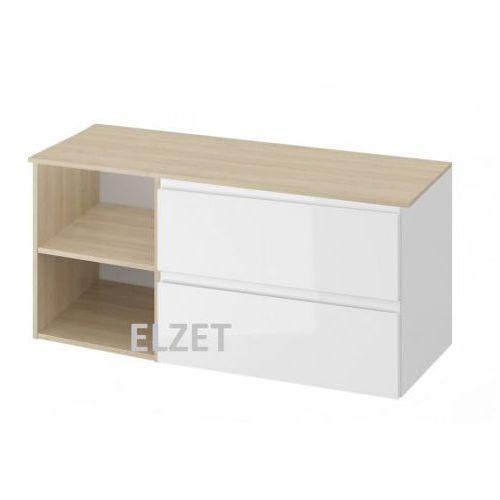 CERSANIT szafka Moduo biały połysk pod umywalkę nablatową + moduł otwarty + blat 120 S929-008+K116-019+S590-026