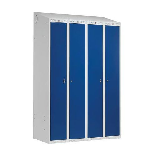 Szafa ubraniowa CLASSIC COMBO, 4 drzwi, 1900x1200x550 mm, niebieski, 130312