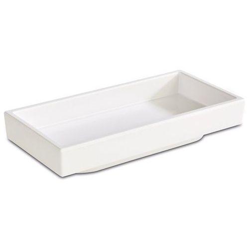 Pojemnik prostokątny z melaminy | biały | różne wymiary