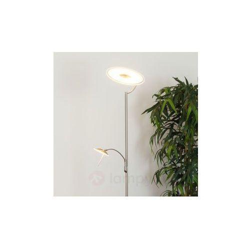 Ściemn. lampa stojąca led juna z lampką do czyt. wyprodukowany przez Lampenwelt