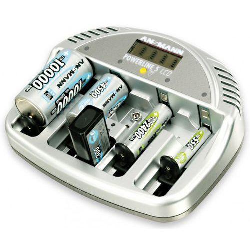 Ansmann Ładowarka powerline 5 lcd do akumulatorów aaa/aa + darmowy transport! (4013674707089)