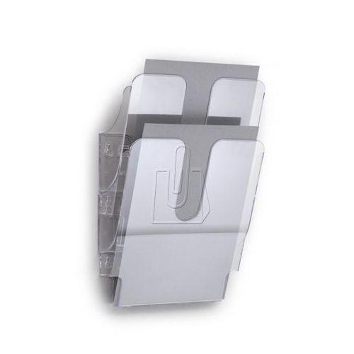 Zestaw dwóch pionowych pojemników Durable FLEXIPLUS A4 przeźroczysty 1709008400 - sprawdź w wybranym sklepie