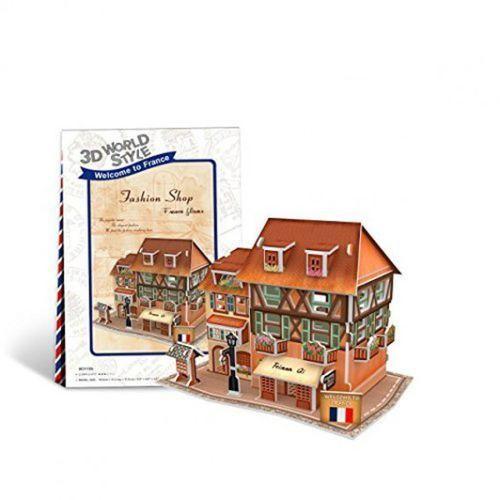 Cubicfun Puzzle 3d domki świata francja