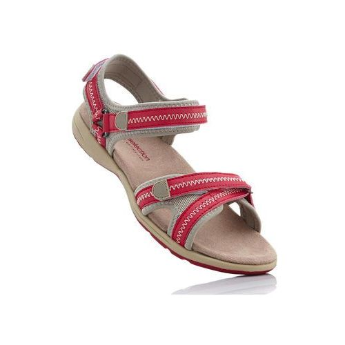 Bonprix Sandały czerwono-beżowy