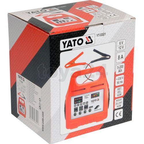 Yato Prostownik elektroniczny 6/12v 8a 5-200ah / yt-8301 / - zyskaj rabat 30 zł (5906083983016)