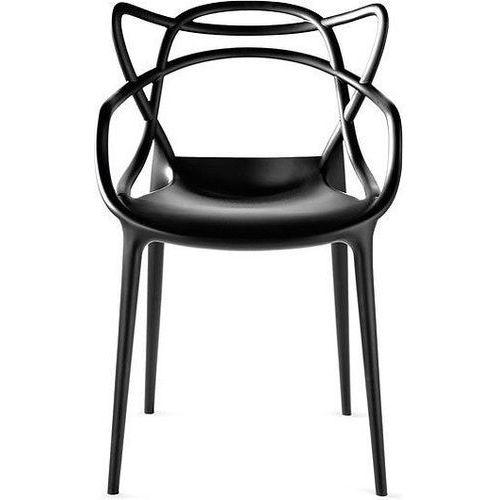 Krzesło Masters czarne, kolor czarny