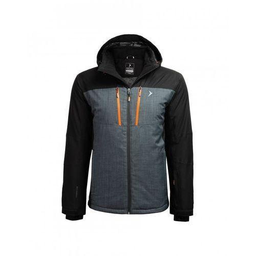 Outhorn Męska kurtka narciarska z18 kumn606 czarny/granatowy melanż/ 20s l