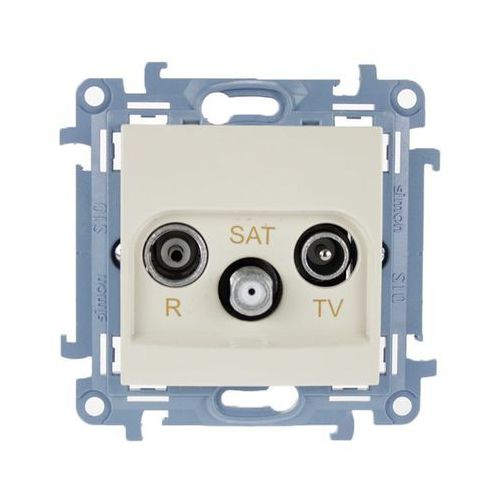 Kontakt-simon Gniazdo antenowe rtv+sat końcowe kremowe cask.01/41 kontakt simon10 rabaty (5902787842901)