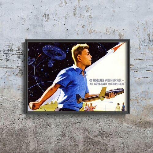 Plakat na ścianę plakat na ścianę modele statków kosmicznych marki Vintageposteria.pl