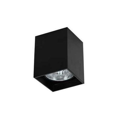 Luminex downlight square 7253 oprawa sufitowa spot 1x60w e27 czarny