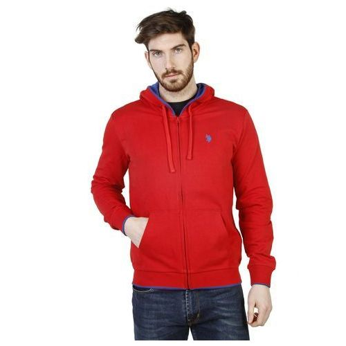 Bluza męska 42275 49333 czerwona, U.s. polo, S-L