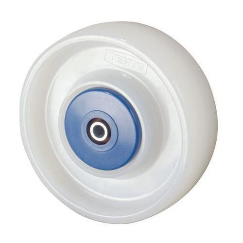 Kółko z poliamidu, białe, precyzyjne łożyska kulkowe, Ø x szer. kółka 125x36 mm.