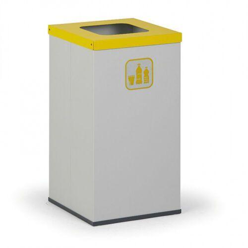 Kosz do segregacji śmieci z wewnętrznym pojemnikiem 42 l, szary/żółty
