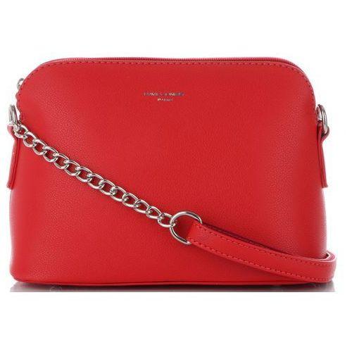 Eleganckie i firmowe torebki damskie listonoszki czerwone (kolory) marki David jones