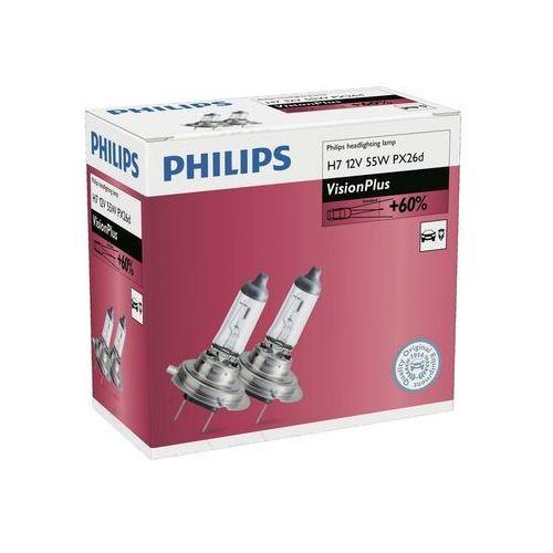 SADA 2x Żarówka samochodowa Philips VISIONPLUS 12972VPC2 H7 PX26d/55W/12V