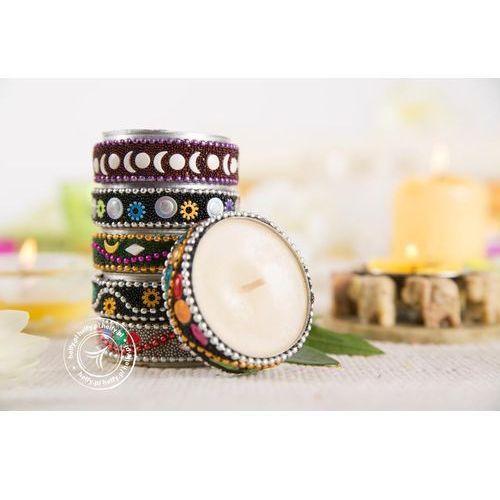 Zestaw świec ręcznie zdobionych - 6 zapachów marki Song of india