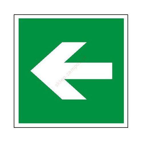 Znak kierunek drogi ewakuacyjnej 200x200 pf wyprodukowany przez Techem