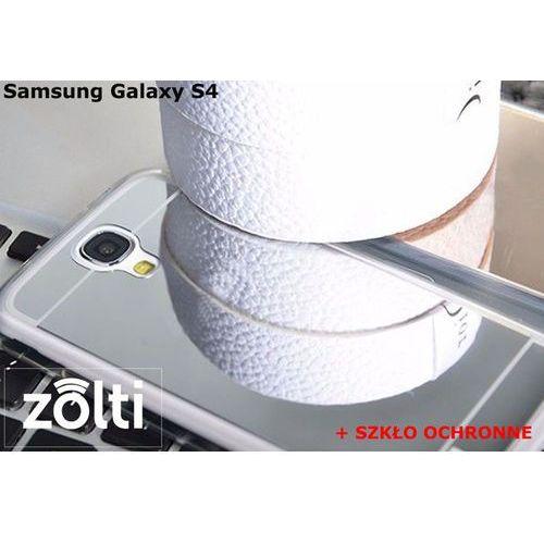 Zestaw   Slim Mirror Case Srebrny + Szkło ochronne Perfect Glass   Etui dla Samsung Galaxy S4