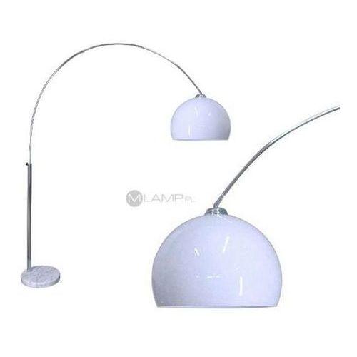 Zumaline Retro lampa podłogowa vision ts-010121w metalowa oprawa stojąca kopuła na ramieniu biała