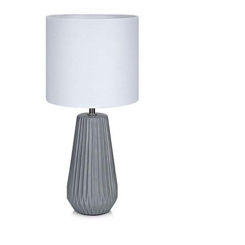 Lampa lampka oprawa stołowa Markslojd Nicci 1x40W E14 szary / biały 106449, 106449