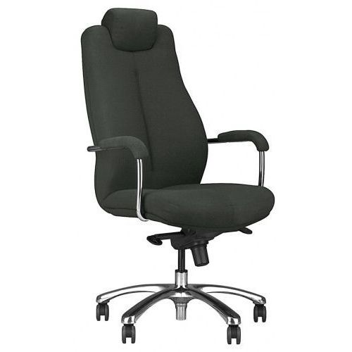 Fotel gabinetowy SONATA xxl lux hrua steel17 chrome - biurowy z regulowanym zagłówkiem, krzes