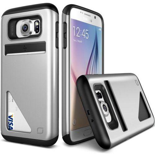 VRS DESIGN Lific Mighty Card Defense Etui Samsung Galaxy S6 srebrne